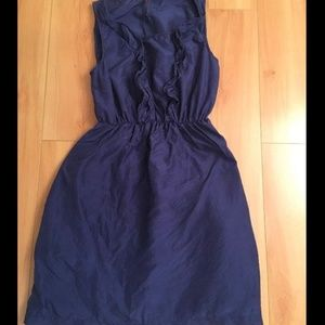 Maeve New Beginnings Silk Sleeveless Dress Blue